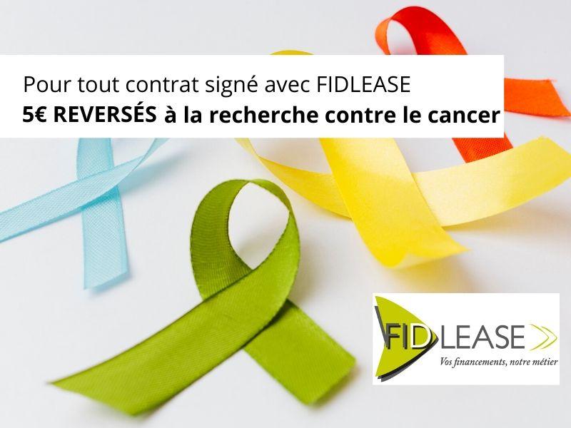 FIDLEASE-Page Blog-credit bail professionnel-actu-offre recherche contre le cancer